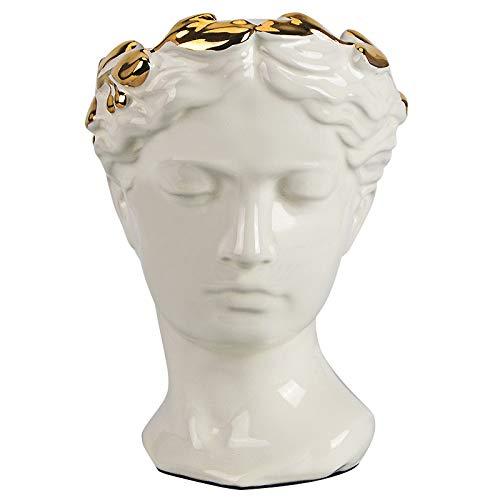 DIAOSUJIA sculptuur, Venus Göttin plating bloemenvaas sculptuur replica keramiek vaas Romeinse mythologie aphrodite kunst portret vaas decoratie