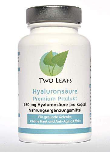 Hyaluronsäure Kapseln, deutsche Herstellung, Laborgeprüft, Anti-Aging, Gelenke, 350mg, 90Kapseln, Vitamin C,B12,Zink, vegan, glutenfrei, laktosefrei
