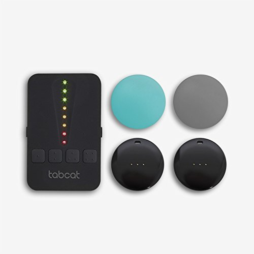 TabCat Pet Tracking Cat Collar Tracker System - Includes 2 Tags