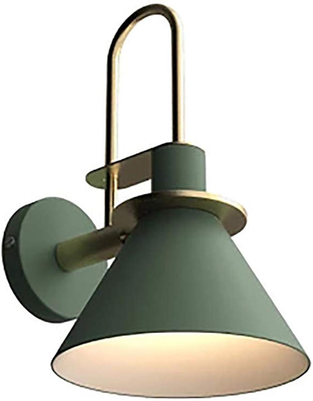 Super schne Wandlampe Creative Modern Einfach Nordisch Nachttischlampe, Sandgrün, für Wohnzimmer, Bad, Flur, Treppe Ohne Lichtquelle -E27