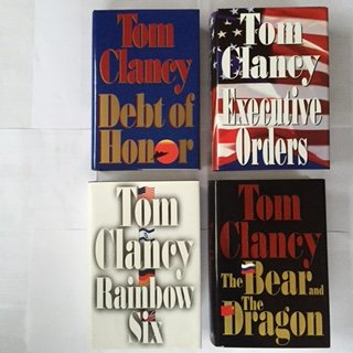 Tom Clancy Set of 4 (Debt of Honor, Executive Orders, Rainbow Six, The Bear and the Dragon) Jack Ryan Series, By Tom Clancy