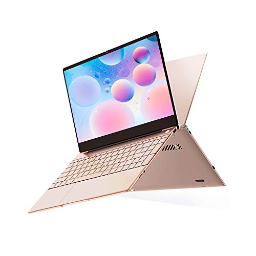 TOPOSH Windows 10 PC Laptop Computer 14 inches 8GB RAM 128GB SSD Intel Quad Core J4115 2.5GHz HD Graphics, Metal Housing Notebook Slim and Light - Champagn Gold