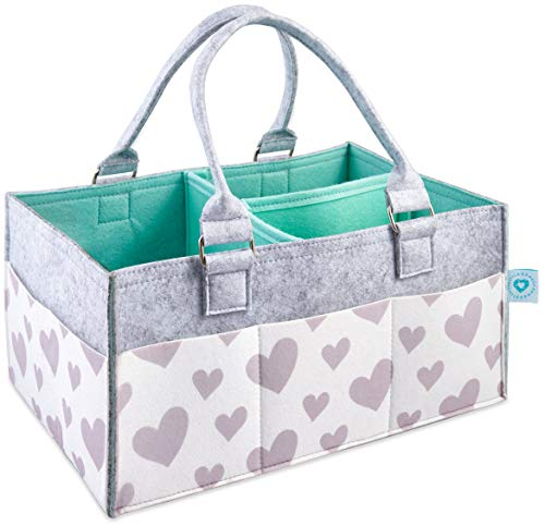 Baby Diaper Caddy Organizer -...