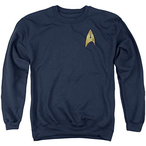 Star Trek Sweatshirt Discovery Command Badge Navy Pullover, Medium