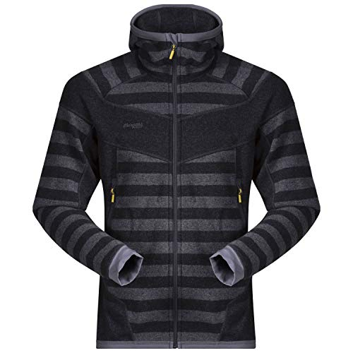 Bergans Herren Hollvin Wool Jacke, Solid Charcoal/Solid Dark Grey Striped, XL