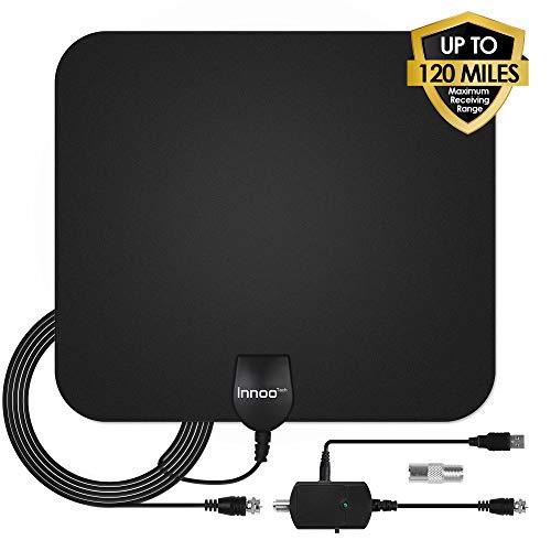 TV Antenna - HDTV Antenna Support 4K 1080P, 60-120 Miles Range Digital Antenna