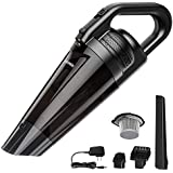 LANGREE Portable Handheld Vacuum Cordless Cleaner, Powerful Cyclonic Suction Vacuum Cleaner, 2600mAh Rechargeable Lithium Battery, Lightweight Wet Dry Hand Vac–Black