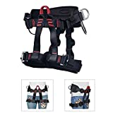 HeeJo Thicken Climbing Harness, Protect Waist Safety Harness, Wider Half Body Harness for Rock Climbing Tree Climbing Fire Rescue Expanding Training Rappelling Large Size