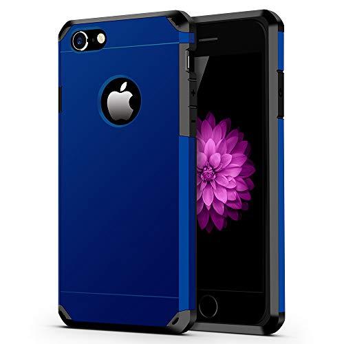 iPhone 7/8 Case, ImpactStrong Heavy Duty Dual Layer Protection Cover Heavy Duty Case for Apple iPhone 7/8 (Navy Blue)