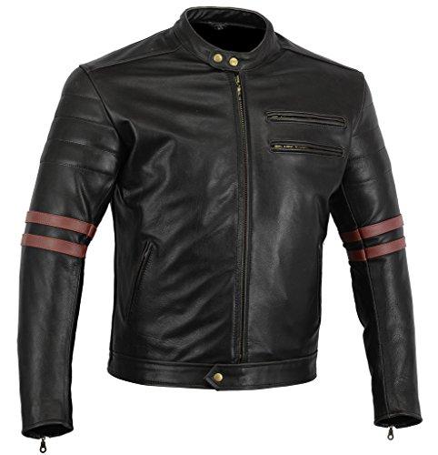 Bikers Gear Cafe Racer - Chaqueta de moto, Negro, L