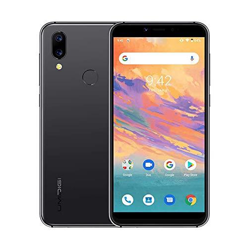 "UMIDIGI A3S Smartphone Libre Android 10 Dual 4G Volte 5.7"" Incell 18: 9 Desbloqueo Facial 2GB + 16GB, Batería de 3950 mAh 2 + 1 Ranura Triple 16MP + 5MP Doble cámara[Negro]"
