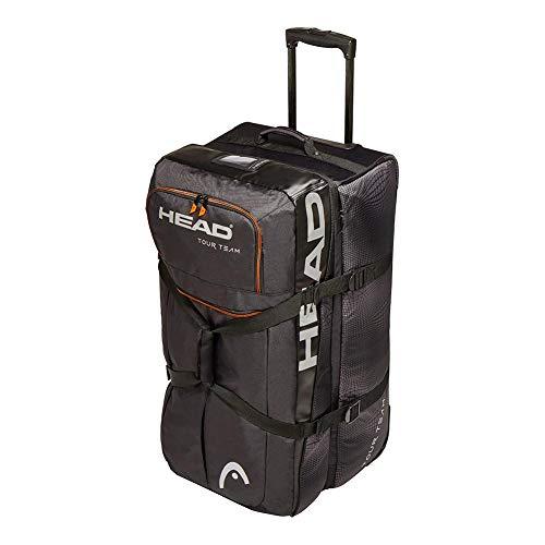 HEAD Unisex-Erwachsene Borsa da viaggio Tour Team Tennistaschen, Black/Silver, Einheitsgröße