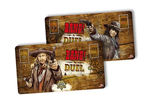 ABACUSSPIELE aba38162–Bang. Bang. The Duel Jugador Alfombrillas Tarjeta Juego–Edición Limitada
