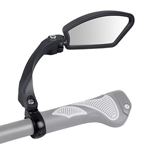 Fiets Spiegel, Fiets Achteraanzicht Spiegel, Universele RVS Lens Stuur Fiets Spiegel Veilig Achteraanzicht Spiegel HF-MR080R