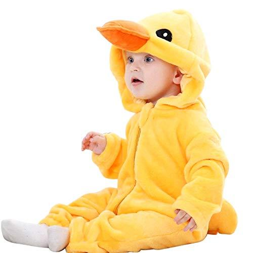 Disfraz de pijama de pato pato unisex sin forro polar tamao 80 cm