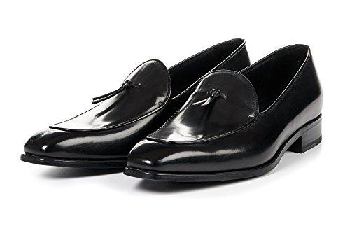beston men shoes Men's Van Damme Belgian Dress Loafers, Full-Grain Leather