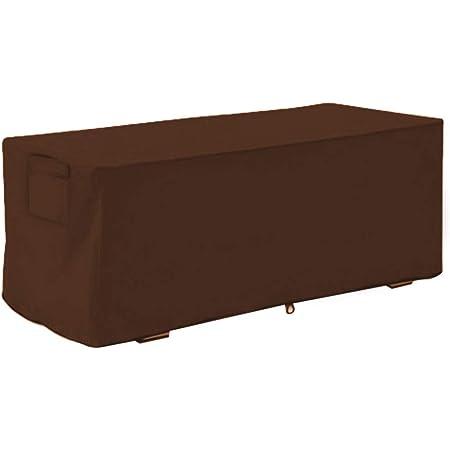 Couverture de boîte de Pont, Housse de boîte de Pont Oxford imperméable et résistante aux UV, Housse de Protection pour boîte de Rangement en Tissu Oxford, 123x62x55cm (Marron) (sans boîte)