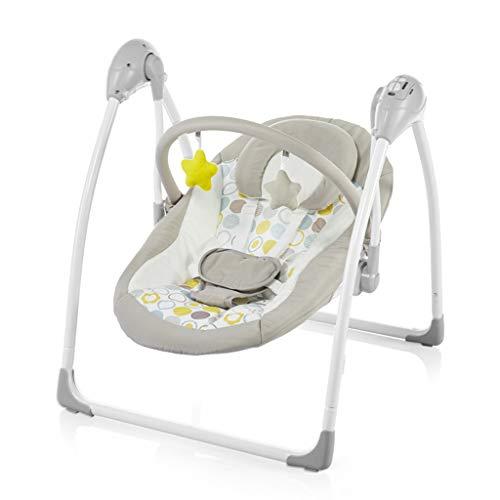 Eléctrico Bebé Columpio Asiento de Balancín Silla de Gorilas 60 X 56 X 65cm Retirable por 0-12 Meses Bebé Recién Nacido Regalo Bed (Color : Beige)