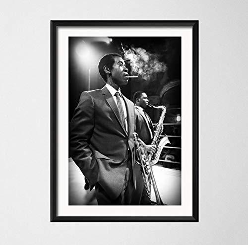 Wandkunst Bild Blue Jazz Größter Musiker Saxophon Kunst Malerei Leinwand Poster Wand Wohnkultur 42 * 60 cm Ohne Rahmen
