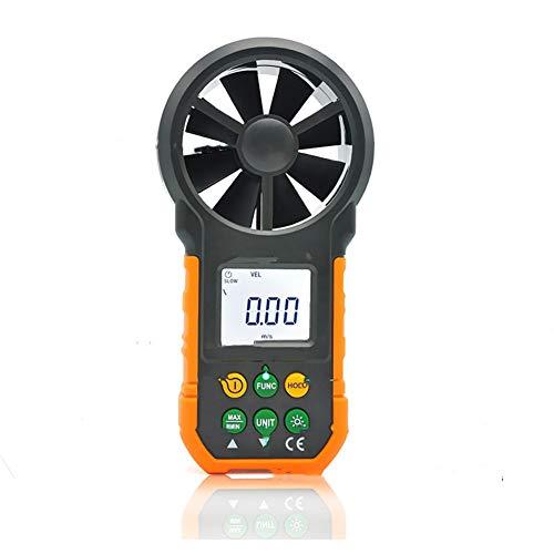 N / A Pantalla Digital portátil de anemómetro portátil de Alta precisión con Pantalla LCD para medir la Velocidad del Viento con el Bolso, la función de luz de Fondo se apaga automáticamente