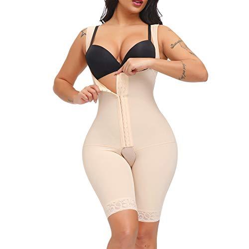 SPARSHINE Fajas Colombianas Reductoras Moldeadoras Postparto Levanta Cola Postpartum Girdle Open Bust Bodysuit For Women, Beige, Medium