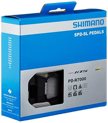 SHIMANO PD-R7000 Pedales de Carretera, Unisex Adulto, Negro, Talla única