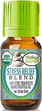 Organic Stress Relief Blend Essential Oil (100% Pure - USDA Certified Organic) Best Therapeutic Grade Essential Oil - 10ml