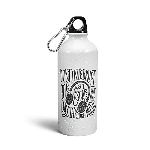 Prink Escape The Day Through Music Printed Water Bottle | Music Sipper Bottles | Sipper Bottles | Designer Sippers | Bottles for Music Songs Lover | Printed Sipper Bottles for Gym, Sports |600ml