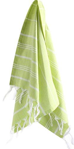 Cacala Hand Face Turkish Towel Pestemal 23x36 Peshtemal Fouta Kitchen Baby Care Pistachio Green