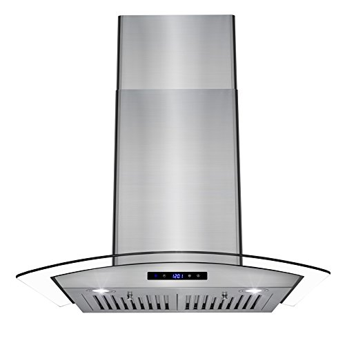 """AKDY 30"""" Wall Mount LED Display Touch Control Panel Stainless Steel Tempered Glass Kitchen Cooking Vent Fan Range Hood"""