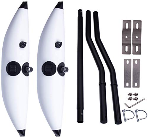 METER STAR Kayak Stabilization System Float and Rods Kit, for Kayaks, Canoes, Fishing Boats, Ocean-Going Boats Easy Install and High Stability