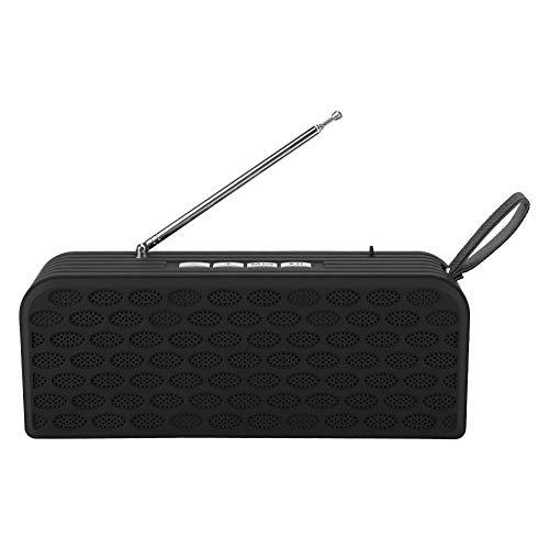 Draadloze luidspreker, Radio FM, Mini, Ondersteuning voor bellen, FM automatisch zoeken, surroundluidsprekers, Basgeluid, Bluetooth-verbinding, Met oplaadkabel, Draagbaar, Zwart