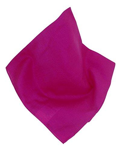 Unifarbenes Nickituch   Bandana in Pink   55 x 55 cm   Halstuch   Teichmann