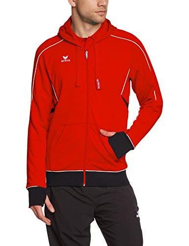 erima Herren Sweatshirt Gold Medal Kapuzenjacke, rot (rot/schwarz/weiß), S/M (Herstellergröße: 5)