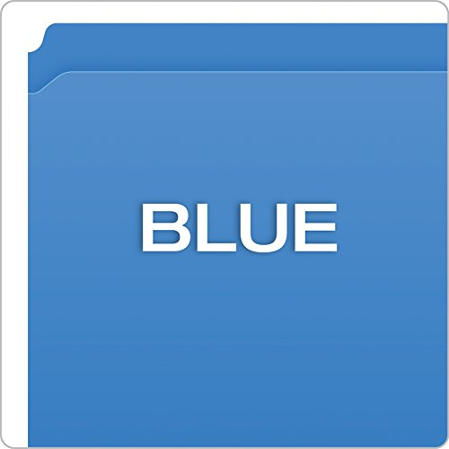 Pendaflex Color Reinforced Top File Folders, Letter Size, Full Tab Position, Blue, 100 Per Box (R152 BLU) Photo #4