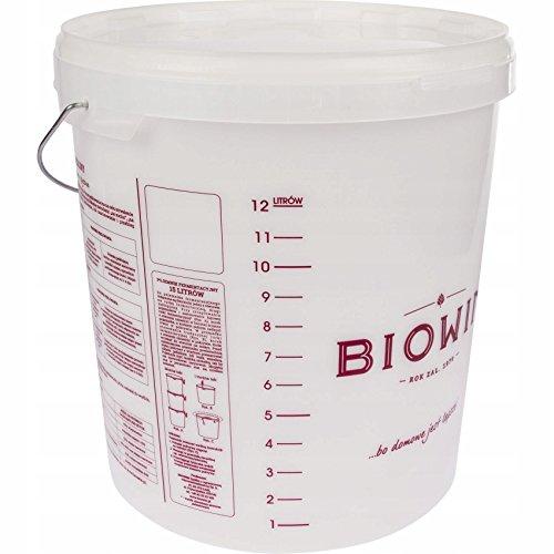 Fermentador de plástico de 15 L con tapa – Cubo de plástico para fermentación | depósito de fermentación | recipiente de plástico.