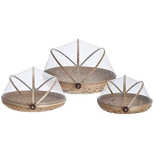EH Excellent Houseware Cesta de pan de fibra de bambú práctica recipiente de cocina.
