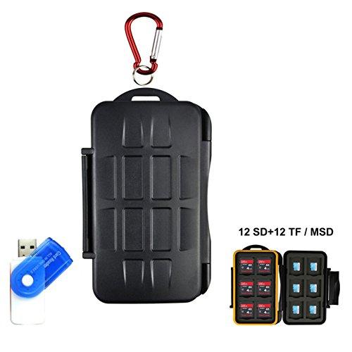 Tarjeta de memoria LXH Estuche para tarjetas SD MSD TF Tarjeta de tarjeta Micro SD Cartucho de tarjeta de cámara con mosquetón Para 12 SD y 12 TF / Micro SD
