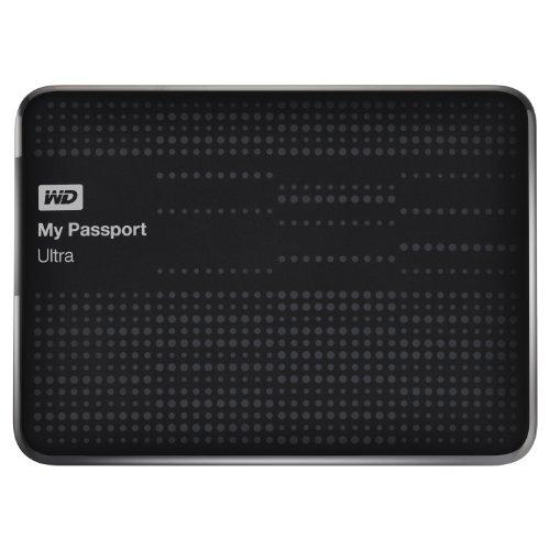 WD My Passport Ultra - Disco portátil ultracompacto de 500 GB, USB 3.0 (con Copia de Seguridad automática y en la Nube) Negro