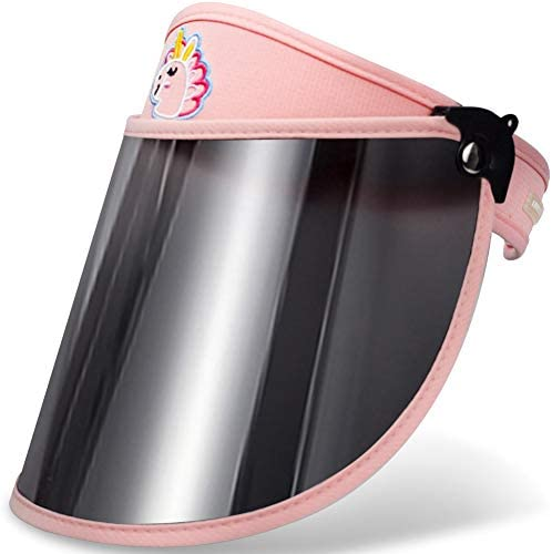 WAYCOM Sun Visor Hats for Kids Sun Cap UV Protection Hat with Detachable Shawl for Boys and product image