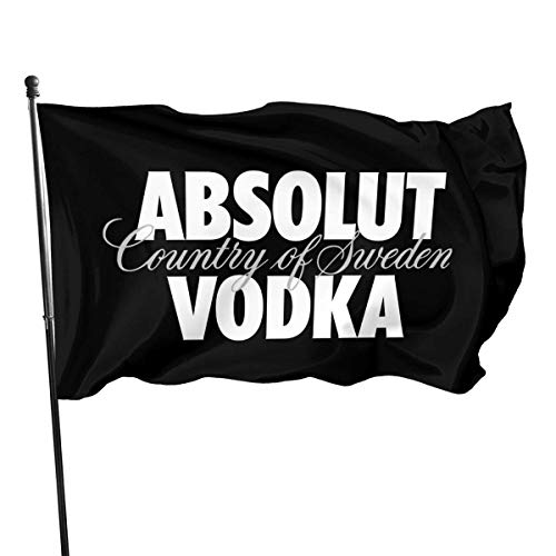 LZHANDA Garten Flaggen Flagge Fahne, Absolut Vodka Flag 3x5 Ft