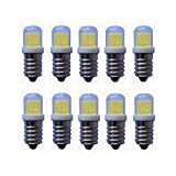 Bombilla LED Bombilla LED E14, Mini bombillas de araña de 3W (equivalente a halógeno de 20W), LED COB, regulable 3000K / 6000K, ángulo de haz de 360 grados E14 Base, 240-260LM, paquete de 10 Para Ga
