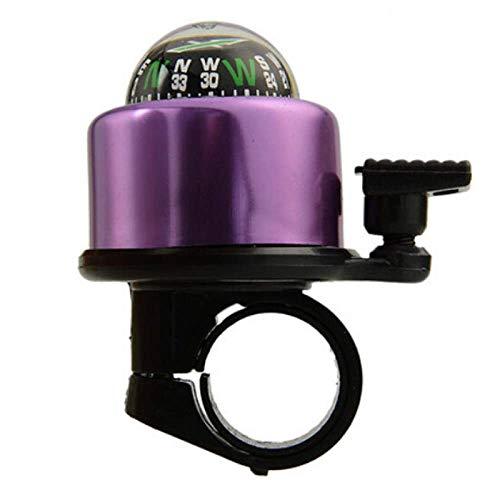 Fahrradklingel Fahrradklingel, Personalisierte lila Compass verzierte Glocken, Bike Bell for Erwachsene und Kinder, Crisp Lautes Wohlklang, Mountainbike Bell Rennrad Bell-Fahrrad-Zubehör for Kinder Er