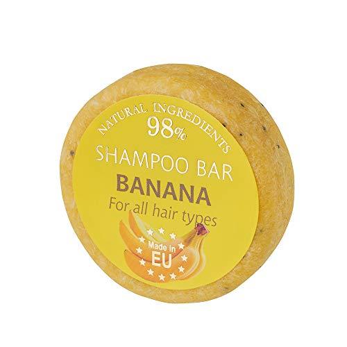 SAULES FABRIKA Duft Shampoo – Bar Naturkosmetik 100% Handmade natürliche Shampooseife handgemachte Haarseife 60g Haarwaschseife für alle Hauttypen (Banane)