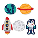 Big Dot of Happiness Blast Off to Outer Space - DIY Shaped Rocket Ship Baby Shower or Birthday Party Cut-Outs - 24 Count