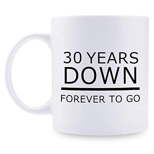 N\A Regalos del 30 Aniversario - Regalos del 30 Aniversario de Boda para Parejas, 30 años Taza de café Divertida para Parejas, Esposo, Esposo, Esposa, Esposa, Ella, él, para Siem