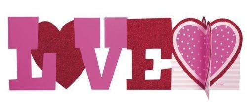 Unique Centro de mesa 3D con diseño de amor de San Valentín