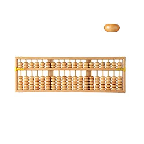 XMCF Calculadora Basica Sobremesa Ábaco Columna De Estilo De Madera De Estilo Vintage 19 (20.8 In) Abacus Profesional De Matemáticas para Adultos para Niños Calculadora de Oficina (Color : Ginger)