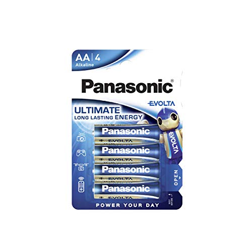 Pila alcalina Panasonic EVOLTA, AA Mignon LR6, Paquete de 4