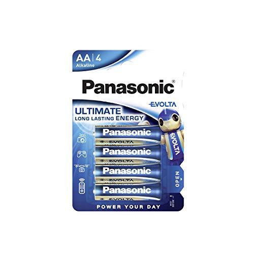 Panasonic EVOLTA Alkaline Batterie, AA Mignon LR6, 4er Pack, 1.5V, Premium-Batterie mit besonders langanhaltender Energie, Alkali-Batterie
